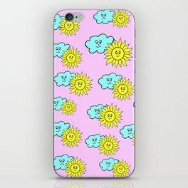 Cute baby design in pink iPhone Skin