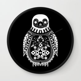 Black Penguin Ecopop Wall Clock