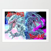 BLUEEYESWHITE/REDEYESBLACK - TEXT Art Print