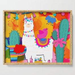 Fiesta Llama Serving Tray