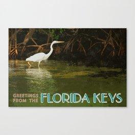 Great White Heron FL Keys Canvas Print