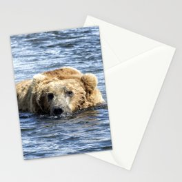 Brown Bear Cooling Off Stationery Cards