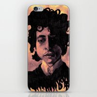 60s iPhone & iPod Skins featuring Bob Dylan (60s style) by Catheriney