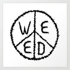 WEED-7 Art Print