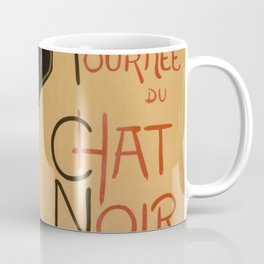 Le Chat Noir The Black Cat Poster by Théophile Steinlen Coffee Mug