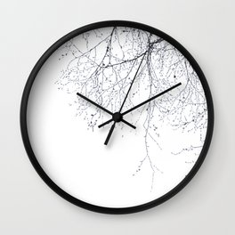 BLACK BRANCHES Wall Clock