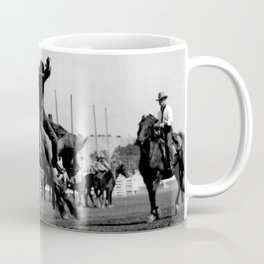 Rodeo Riders at the 1940 Calgary Stampede - Cow-boys de rodéo au Stampede de Calgary de 1940  Coffee Mug