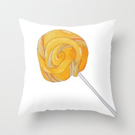 L is for Lollypop Throw Pillow