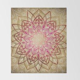 Desert Mandala Throw Blanket
