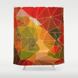 Autumn abstract landscape 6 Shower Curtain