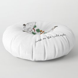 Wok On The Wild Side, Music Quote Floor Pillow