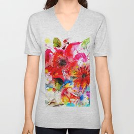 Watercolor garden II Unisex V-Neck