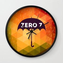 Zero 7 Poster - Sia Furler Mozez Jose Gonzalez Umbrella Print Rain Wall Clock