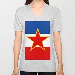 Flag of Yugoslavia Unisex V-Neck