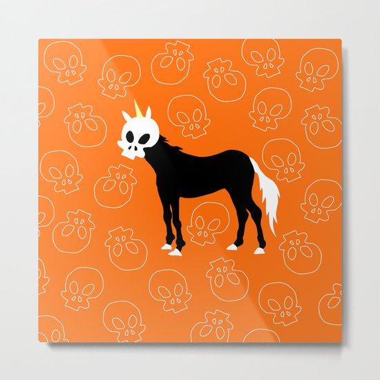 Skullhead Unicorn Metal Print