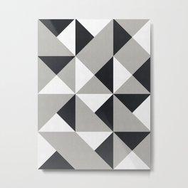 Geometric pattern of squares Metal Print