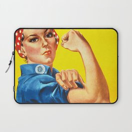 Rosie The Riveter Vintage Women Empower Women's Rights Sexual Harassment Laptop Sleeve