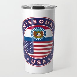 Missouri, USA States, Missouri t-shirt, Missouri sticker, circle Travel Mug