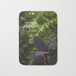 Courage, Dear Heart  |  Botanical Photography Bath Mat