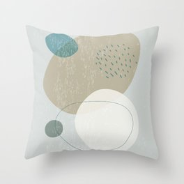 Abstract Stones in Blue No. 2 Throw Pillow