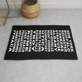 New York State Cities Bus Roll Rug