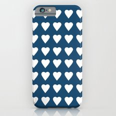 64 Hearts Navy iPhone 6s Slim Case