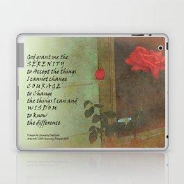 Serenity Prayer Rose and Door Laptop & iPad Skin