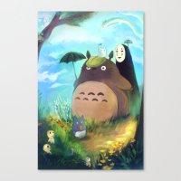 ghibli Canvas Prints featuring Ghibli by Bianca Bautista