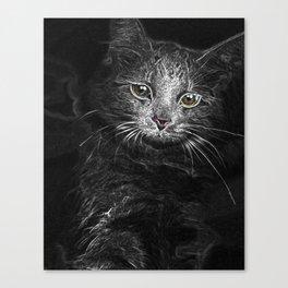 Lunar Essence of the Siberian Kitty Cat Canvas Print