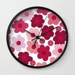 cherry blossom pop Wall Clock