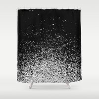 murakami Shower Curtains featuring infinity by Bunny Noir