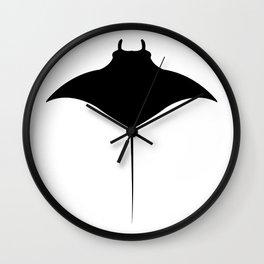 manta fish Wall Clock