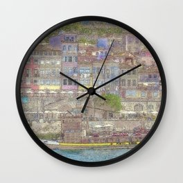 Old houses, Porto, Portugal Wall Clock