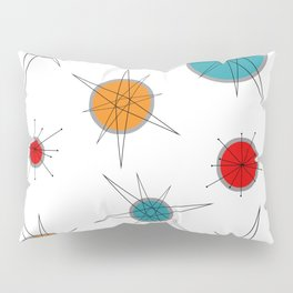 Atomic Age Colorful Planets Pillow Sham