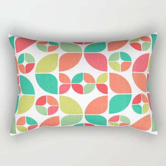 Vintage Summer Pattern Rectangular Pillow