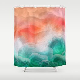 """Coral sand beach and tropical turquoise sea"" Shower Curtain"