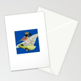 Robin Road Trip - Vintage Collage Stationery Cards