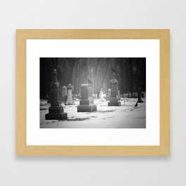 Vistits with the Crow Framed Art Print