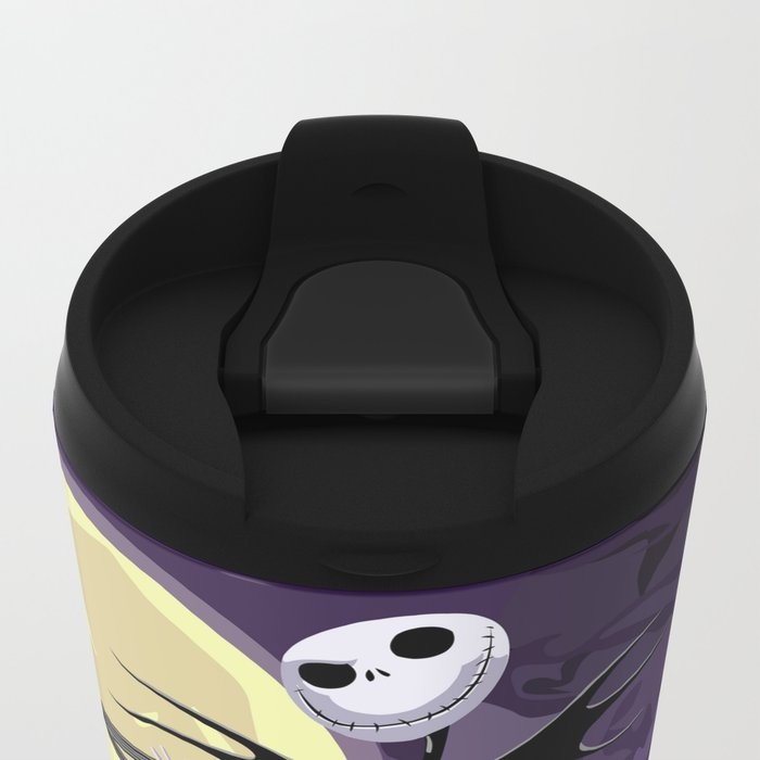 Halloween Purple Sky with jack skellington iPhone 4 4s 5 5c, ipod, ipad, pillow case tshirt and mugs Metal Travel Mug