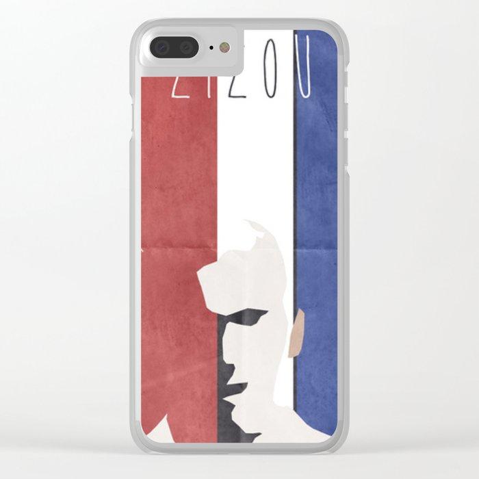 Zinedine Zidane, minimal portrait, Zizou, illustration, french football player, soccer, ballon d'or Clear iPhone Case