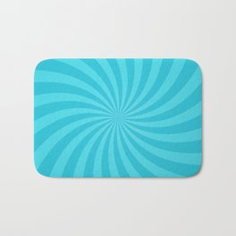 Blue Spiral Ray Stripes Bath Mat