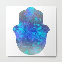 Watercolor Splatter Hamsa Hand Metal Print
