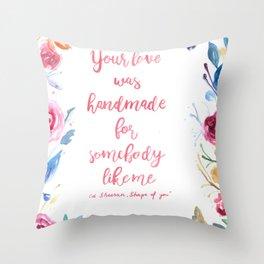 Floral lyrics Throw Pillow