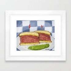 Pastrami on Rye Framed Art Print