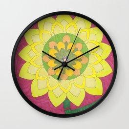 Flower of My Sun Wall Clock
