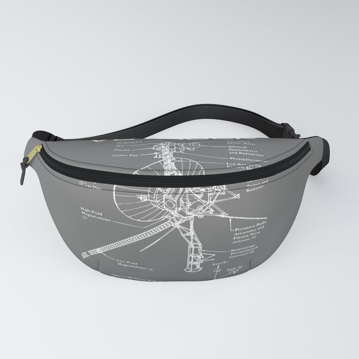 Voyager Program - White Ink Fanny Pack
