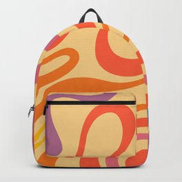 Abstract 70s Pattern Aesthetic Backpack