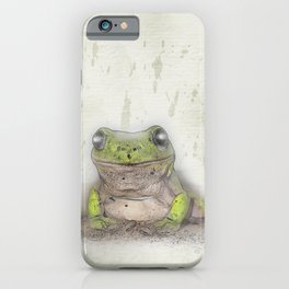 Jeremiah was a bullfrog iPhone Case