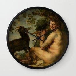 "Jacob Jordaens ""A satyr"" Wall Clock"