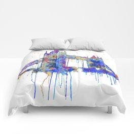 Tower Bridge watercolor Comforters